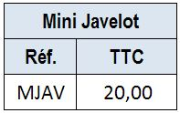 Mini Javelot Aluminium