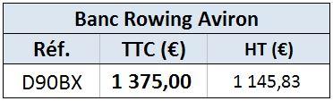 Banc rowing aviron
