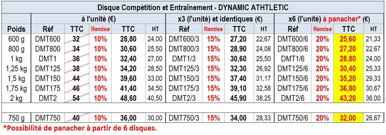 Disque Compétition et Entraînement DMT