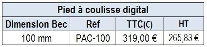 MESURE DES POIDS / DISQUES - PIED A COULISSE