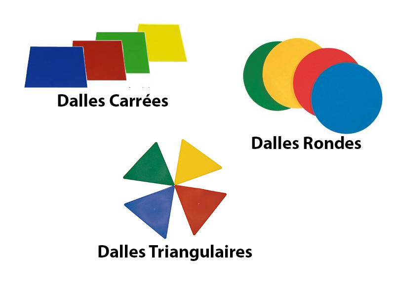 Marquage au sol - Dalles Rondes, Carrées et Triangulaires
