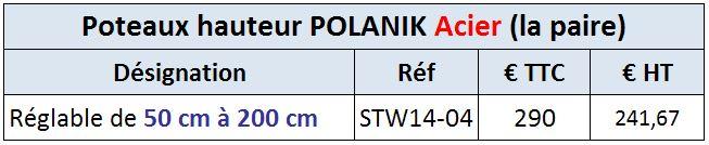 Poteau Hauteur Polanik Acier STW14-04