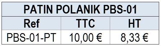 PATIN de REMPLACEMENT pour STARTING BLOCK POLANIK PBS-01